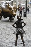 Fearless Girl Wall Street Fotografisk trykk