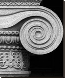 Column detail, U.S. Treasury Building, Washington, D.C. - Black and White Variant Stretched Canvas Print by Carol Highsmith