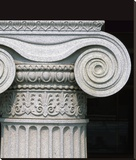 Column detail, U.S. Treasury Building, Washington, D.C. Stretched Canvas Print by Carol Highsmith