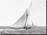Cutter sailing on the ocean, 1910 Stretched Canvas Print by  Anonymous