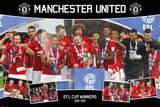 Manchester United- 2017 Efl Cup Winners Kunstdrucke