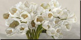Tulipes blanches Stretched Canvas Print by Leonardo Sanna