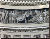 Wright Brothers frieze in U.S. Capitol dome, Washington, D.C. Stretched Canvas Print by Carol Highsmith