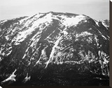 Full view of barren mountain side with snow, in Rocky Mountain National Park, Colorado, ca. 1941-19 Stretched Canvas Print by Ansel Adams