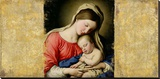 Holy Virgin (After Sassoferrato) Stretched Canvas Print by Simon Roux