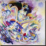 Improvisation Painting Stretched Canvas Print by Wassily Kandinsky