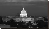U.S. Capitol, Washington, D.C. Number 2 - B&W Stretched Canvas Print by Carol Highsmith