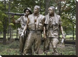 Vietnam memorial soldiers by Frederick Hart, Washington, D.C. Stretched Canvas Print by Carol Highsmith