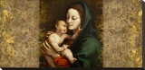 Holy Virgin (Italian school) Stretched Canvas Print by Simon Roux
