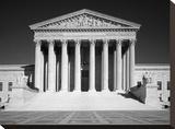 U.S. Supreme Court building, Washington, D.C. - B&W Stretched Canvas Print by Carol Highsmith