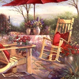 Patio Chaise Prints by Paul Mathenia