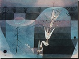 Wallflower (detail) Stretched Canvas Print by Paul Klee