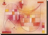 Yellow Pink Stretched Canvas Print by Wassily Kandinsky
