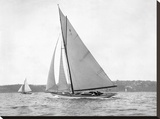 Victorian sloop on Sydney Harbour, 1930 Stretched Canvas Print by  Anonymous