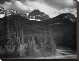 Northeast Portion, Yellowstone National Park, Wyoming, ca. 1941-1942 Stretched Canvas Print by Ansel Adams
