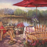 Summer Patio Posters by Paul Mathenia