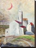 Vicoli misteriosi Stretched Canvas Print by Donato Larotonda