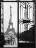 Eiffel Tower from the Trocadero Palace, Paris Stretched Canvas Print by  Anonymous