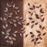 Russet Leaf Garland I Print by Janet Tava