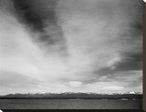 Yellowstone Lake, Yellowstone National Park, Wyoming, ca. 1941-1942 Stretched Canvas Print by Ansel Adams