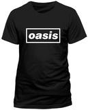 Oasis- White Block Logo Maglietta