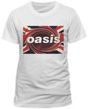 Oasis- Union Jack Swirl Logo Magliette