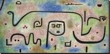 Insula Dulcamara Stretched Canvas Print by Paul Klee