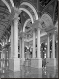 Great Hall, second floor, north. Library of Congress Thomas Jefferson Building, Washington, D.C. - Stretched Canvas Print by Carol Highsmith