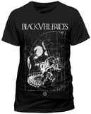 Black Veil Brides- Distressed Pinned Skull T-shirts