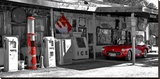 Vintage gas station on Route 66 Stretched Canvas Print by Vadim Ratsenskiy