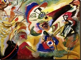 Fragment II for Composition VII Stretched Canvas Print by Wassily Kandinsky