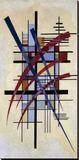 Zeichen mit Begleitung Stretched Canvas Print by Wassily Kandinsky