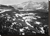 Long's Peak, in Rocky Mountain National Park, Colorado, ca. 1941-1942 Stretched Canvas Print by Ansel Adams