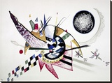 Watercolor Painting of Composition Stretched Canvas Print by Wassily Kandinsky