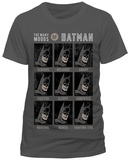 Batman- The Many Moods T-shirts