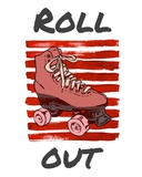 Roller Derby Roll Out Prints by  Color Me Happy