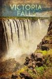 Vintage Victoria Falls, Livingstone, Africa Plakater af  Take Me Away