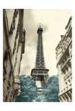 Teal Eiffel Tower 1 Posters