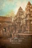 Vintage Banteay Srei, Cambodia, Asia Posters by  Take Me Away