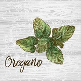 Oregano on Wood Poster by  Color Me Happy
