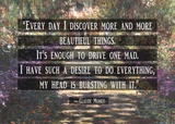 Monet Quote Garden at Giverny Prints by  Quote Master