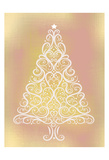Frosted Christmas Gold Poster
