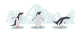 Minimalist Penguin Trio, Boys Print by  Color Me Happy
