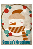 Seasons Greetings Snowman Poster