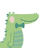 Alvin the Alligator Posters by  Color Me Happy