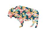 Layered Bull Triangles Prints