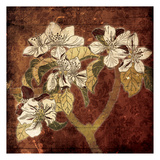 Ivory Floral Wood Posters
