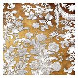 Silver Floral Stamp Art