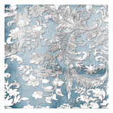 Silver Blue Floral Stamp Two Posters