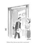 """""""William Henry Harrison had a better second month."""" - Cartoon Premium Giclee Print by Pat Byrnes"""